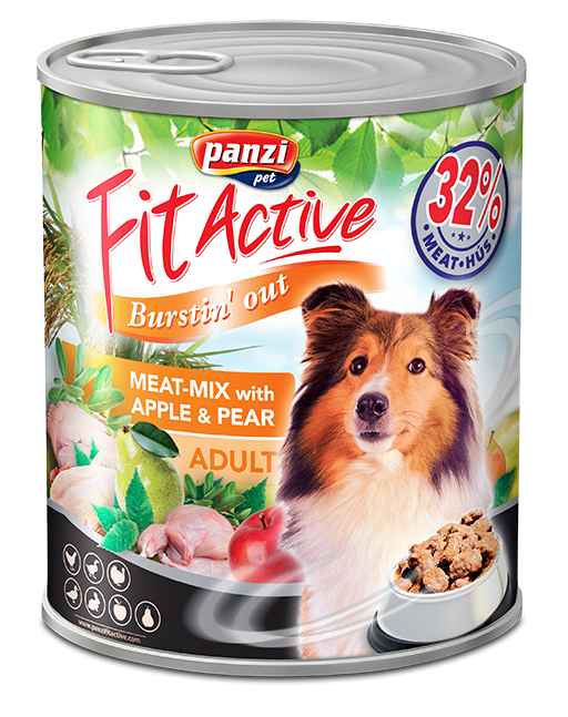 FitActive ADULT DOG meat-mix with fruit cocktail